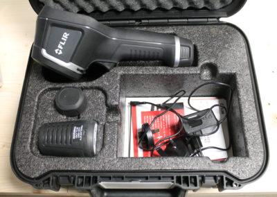 La caméra thermique nous permet de retranscrire tous les écarts de température sur l'image thermique.